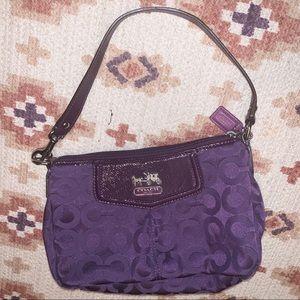 Coach classic purple handbag